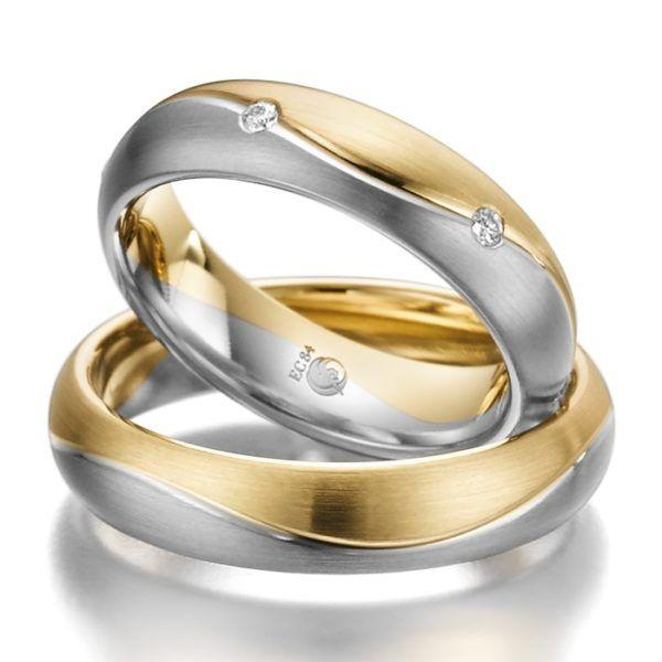 Eheringe - Design - mit Diamanten - RU-1024-1-0