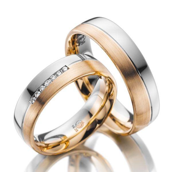 Eheringe - Design - mit Diamanten - RU-1026-1-0
