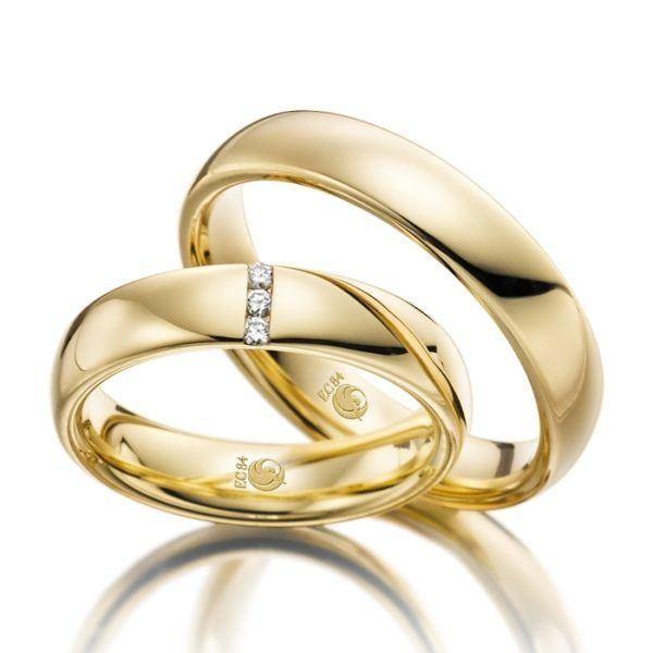 Eheringe - Design - mit Diamanten - RU-1029-1-0
