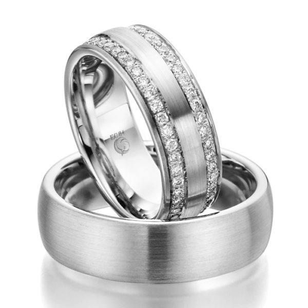 Eheringe - Design - mit Diamanten - RU-1030-1-0