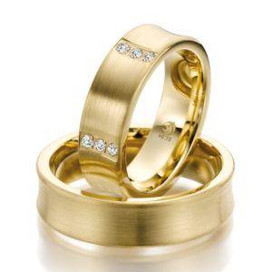 Eheringe - Design - mit Diamanten - RU-1033-1-0