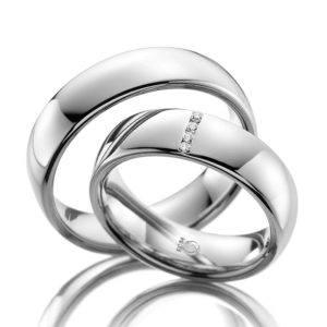 Eheringe - Design - mit Diamanten - RU-1039-1-0