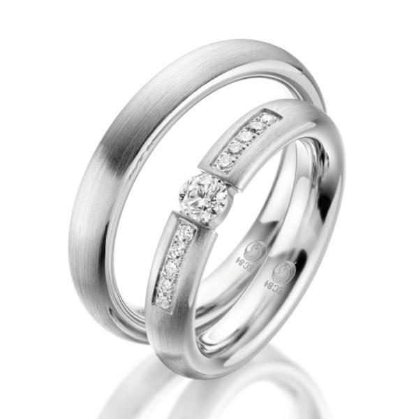 Eheringe - Design - mit Diamanten - RU-1047-1-0