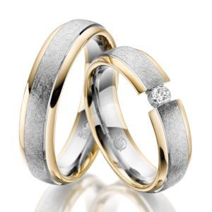 Eheringe - Design - mit Diamant - RU-1048-1-0
