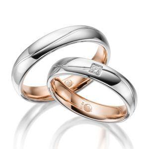 Eheringe - Design - mit Diamant - RU-1532-1-0