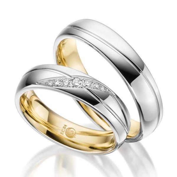 Eheringe - Design - mit Diamanten - RU-1534-1-0