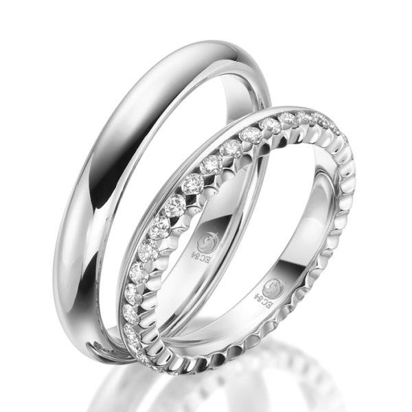 Eheringe - Design - mit Diamanten - RU-1535-1-0
