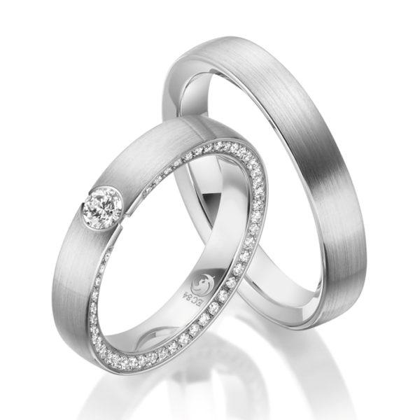 Eheringe - Design - mit Diamanten - RU-1536-1-0