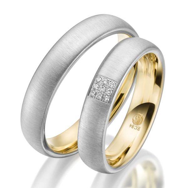Eheringe - Design - mit Diamanten - RU-1539-1-0