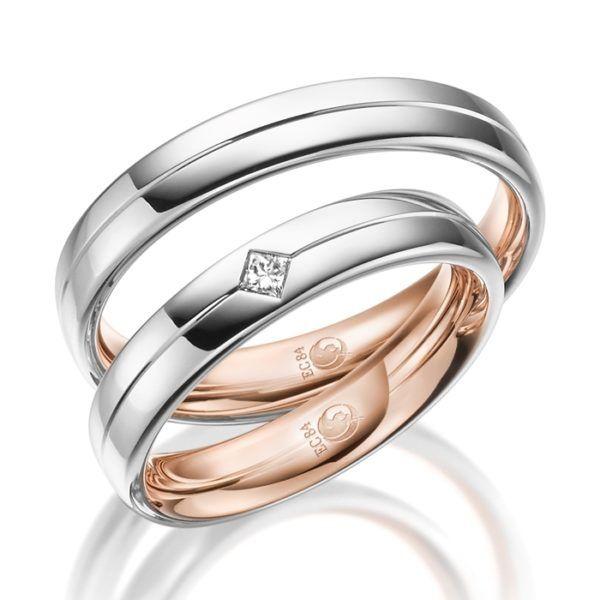 Eheringe - Design - mit Diamant - RU-1540-1-0