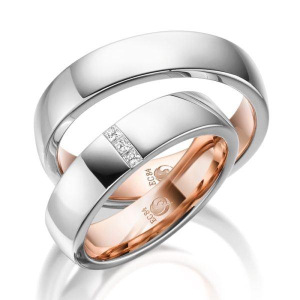Eheringe - Design - mit Diamanten - RU-1541-1-0