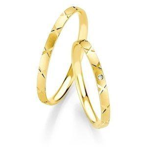 Breuning - Trauringe - Basic Slim DR 043170 / HR 043180 - Gelbgold