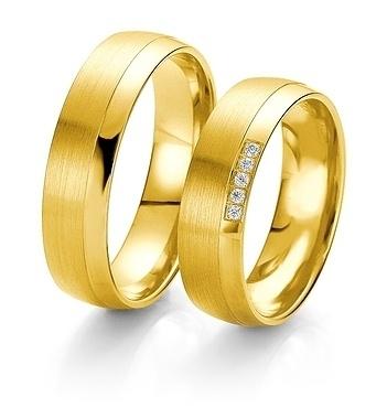 Breuning- Trauring- Rainbow DR 062250 / HR 062260 Gelbgold