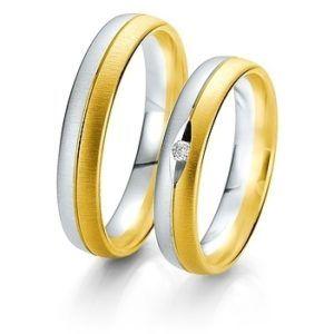 Breuning- Trauring- Rainbow DR 062310 / HR 062320 Weißgold/Gelbgold