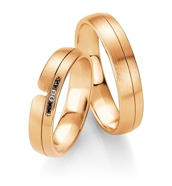 Breuning - B&W Black Diamonds - Trauringe -DR 064030 / HR 064040 - Rotgold