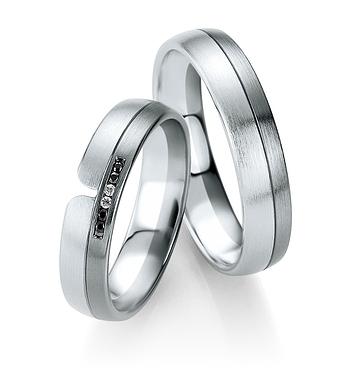 Breuning - B&W Black Diamonds - Trauringe -DR 064030 / HR 064040 - Weißgold