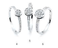 Verlobungsring mit Diamant - Zargenfassung mit seitlichem Steinbesatz - Modern-0