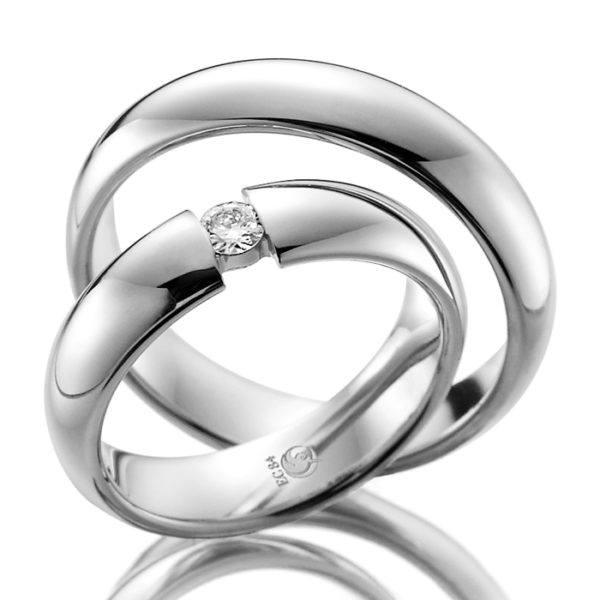 Eheringe - Design - mit Diamant - RU-1002-1-0