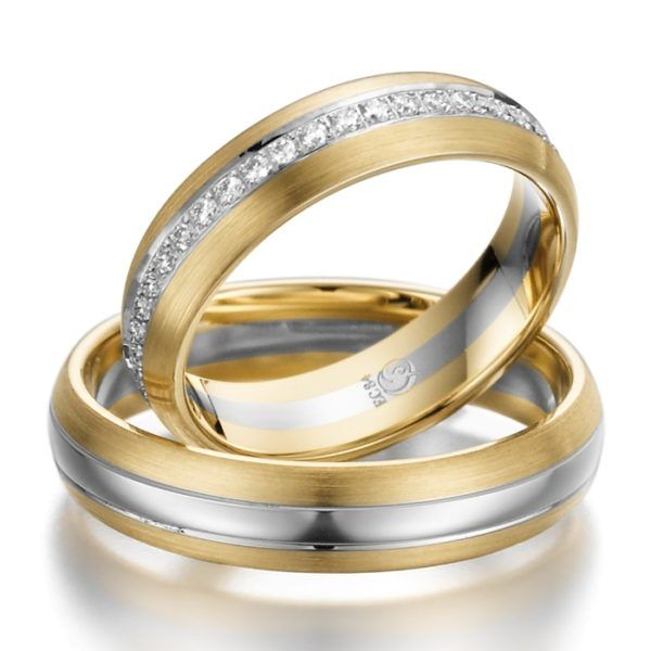 Eheringe - Design - mit Diamanten - RU-1006-1-0