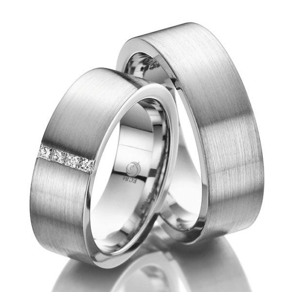Eheringe - Design - mit Diamanten - RU-1008-1-0