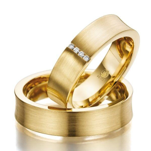Eheringe - Design - mit Diamanten - RU-1016-1-0
