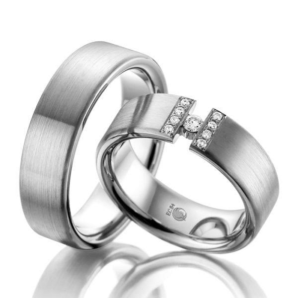 Eheringe - Design - mit Diamanten - RU-1037-1-0