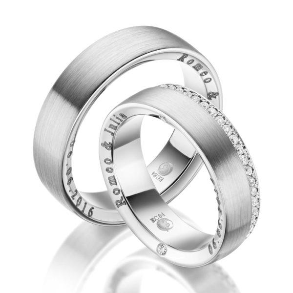Eheringe - Design - mit Diamanten - RU-1042-1-0