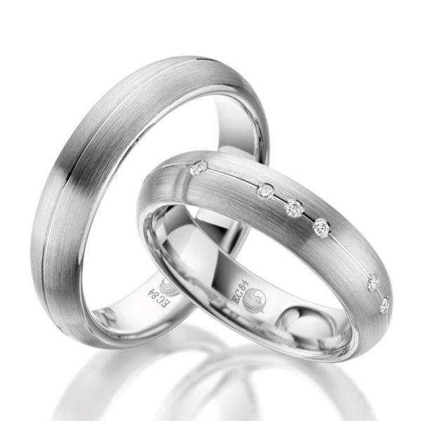 Eheringe - Design - mit Diamanten - RU-1045-1-0