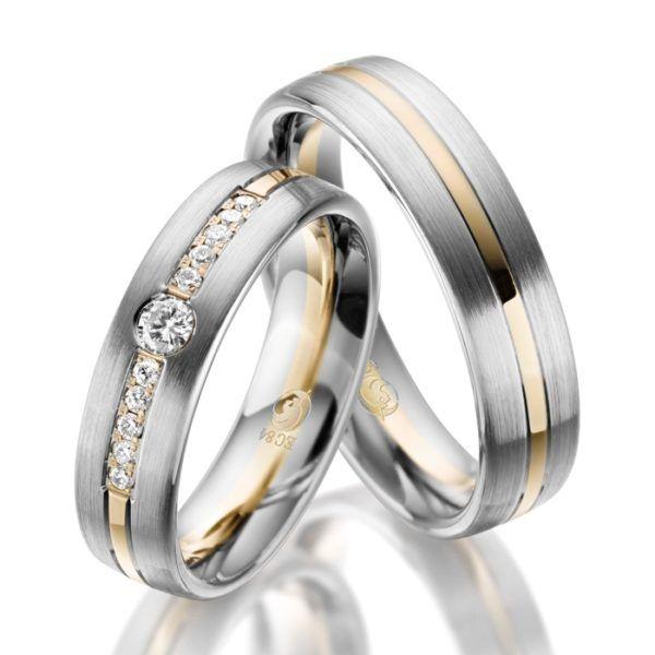 Eheringe - Design - mit Diamanten - RU-1049-1-0