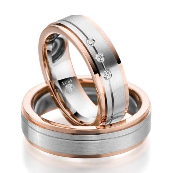 Eheringe - Design - mit Diamanten - RU-1050-1-0