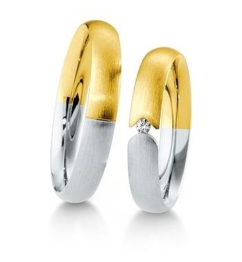 Breuning - Trauringe - Inspiration - DR 041550 / HR 041560 Gelbgold/Weißgold