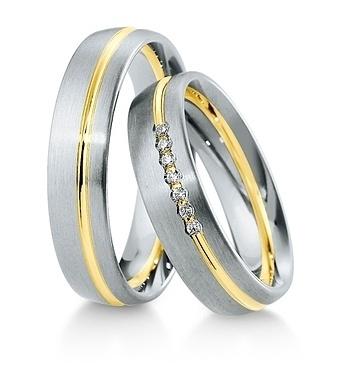 Breuning - Trauringe - Inspiration - DR 041570 / HR 041580 Weißgold/Gelbgold