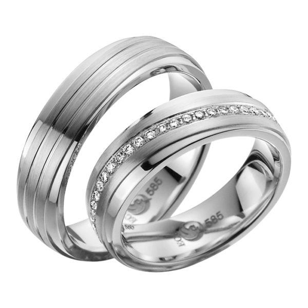 Eheringe - Exclusive - mit Diamanten - R731-0