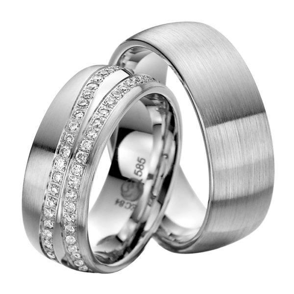 Eheringe - Exclusive - mit Diamanten - R732-0