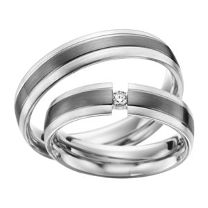 Eheringe - Shadow Line - mit Diamant - R930-0