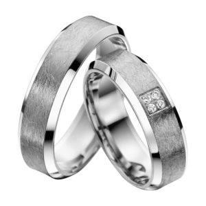 Eheringe - Shadow Line - mit Diamanten - R933-0