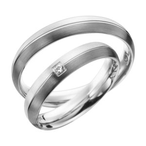 Eheringe - Shadow Line - mit Diamant - R939-0