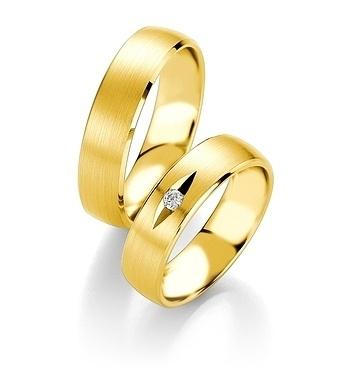 Breuning - Trauringe - Platin Design - DR 090540 / HR 090550 - Gelbgold