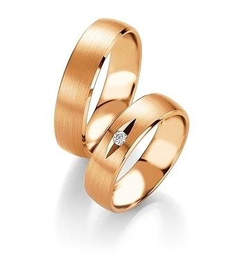 Breuning - Trauringe - Platin Design - DR 090540 / HR 090550 - Rotgold