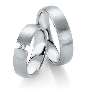 Breuning - Trauringe aus Platin - Platin Design - DR 090520 / HR 090530