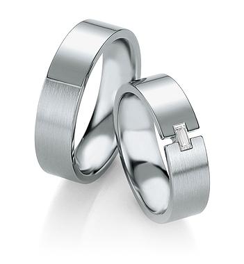 Breuning - Trauringe - Platin Design - DR 090600 / HR 090610 - Platin
