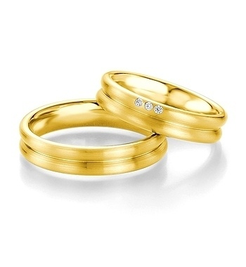 Breuning - Trauringe - Platin Design -DR 090660 / HR 090670 - Gelbgold