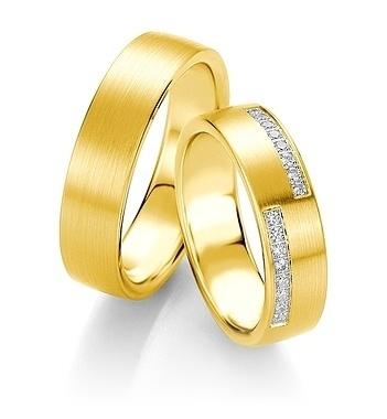 Breuning - Trauringe - Platin Design - DR 090700 / HR 090710 - Gelbgold