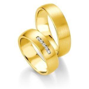 Breuning - Trauringe - Platin Design - DR 090800 / HR 090810 - Gelbgold