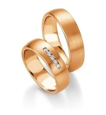 Breuning - Trauringe - Platin Design - DR 090800 / HR 090810 - Rotgold