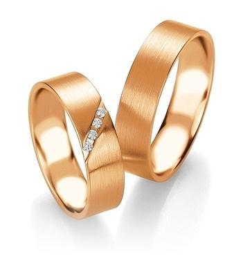 Breuning - Trauringe - Platin Design - DR 090840 / HR 090850 - Rotgold