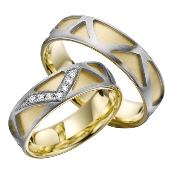 Eheringe - Gold - mit Diamanten - R702-0