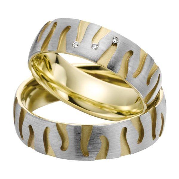 Eheringe - Gold - mit Diamanten - R703-0