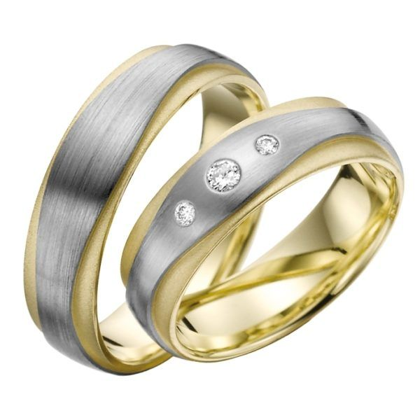 Eheringe - Gold - mit Diamanten - R704-0