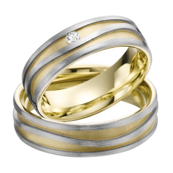 Eheringe - Gold - mit Diamant - R706-0